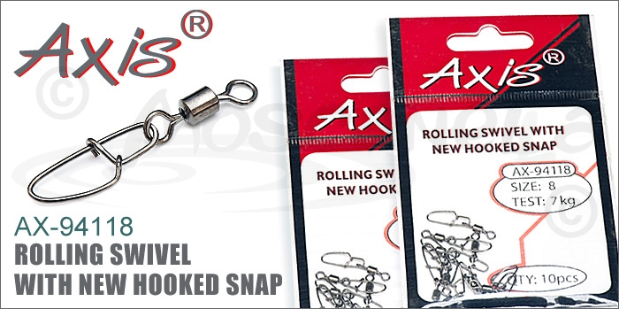 Изображение Axis AX-94118 Rolling Swivel With New Hooked Snap