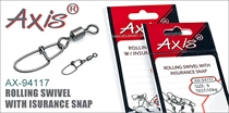 AX-94117 Rolling Swivel With Insurance Snap