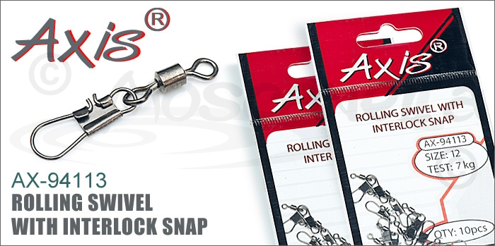Изображение Axis AX-94113 Rolling Swivel With Interlock Snap