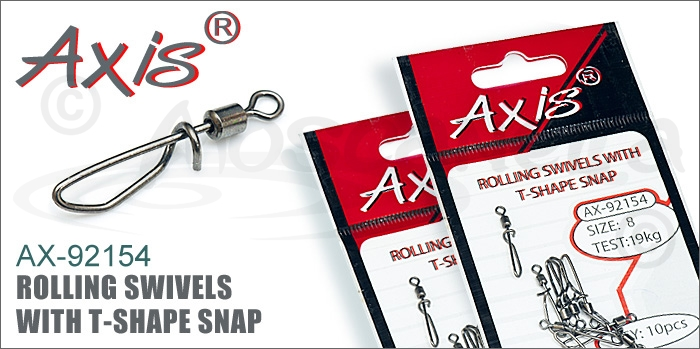 Изображение Axis AX-92154 Rolling Swivels with t-shape snap
