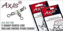 AX-92138 T-Sharp Cross-Line Rolling Swivel Pearl Beads