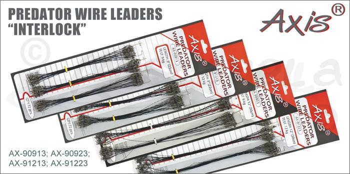 "Изображение Axis AX-90913; AX-90923; AX-91213; AX-91223 Поводок Predator Wire leaders ""Interlock"""